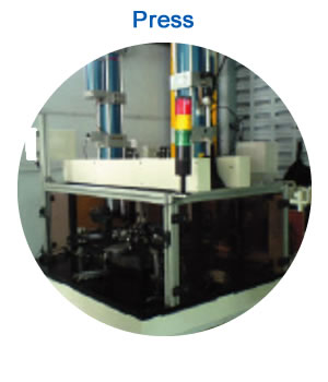 Press: Automatic press machine with Air-Hydro cylinder and Indexing table