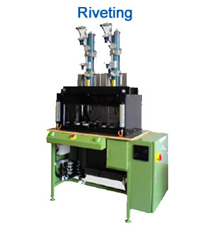 Riveting: Semi-Automatic Riveting machine with Air-Hydro cylinder